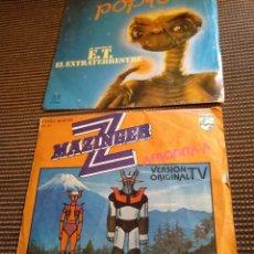 Discos de vinilo: SINGLE MAZINGER Z 1978 Y E.T.EL EXTRATERRESTRE 1982. Lote 131339346