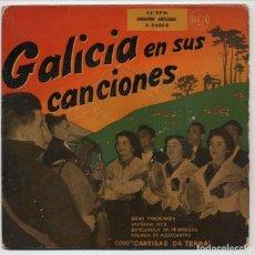 Discos de vinilo: GALICIA Y SUS CANCIONES : CORO CANTIGAS DA TERRA : GRAN PANDEIRADA. Lote 131354518