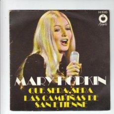 Discos de vinilo: THE BEATLES: APPLE MARY HOPKIN-SELLO PROMOCIONAL EN CONTRAPORATDA-EXCELENTE. Lote 131355750