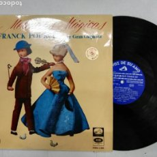 Discos de vinilo: FRANCK POURCEL Y SU GRAN ORQUESTA MELODIAS MÁGICAS 12 ÉXITOS LP VINILO. Lote 131342150