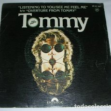 Discos de vinilo: PETE TOWNSHEND / ROGER DALTREY – LISTENING TO YOU / SEE ME, FEEL ME / OVERTURE FROM TOMMY - SINGLE. Lote 131380878