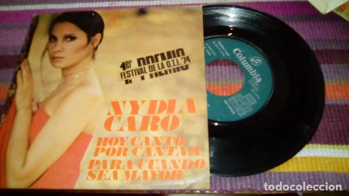 NIDYA CARO 1ER PREMIO FESTIVAL DE LA OTI 1974 HOY CANTO POR CANTAR PARA CUANDO SEA MAYOR (Música - Discos - Singles Vinilo - Otros Festivales de la Canción)
