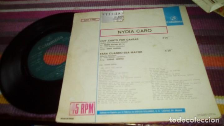 Discos de vinilo: NIDYA CARO 1er PREMIO FESTIVAL DE LA OTI 1974 HOY CANTO POR CANTAR PARA CUANDO SEA MAYOR - Foto 2 - 131403586