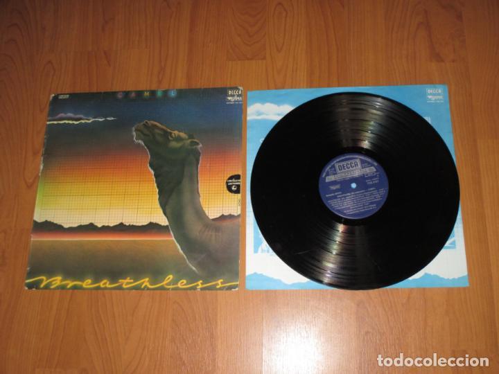 CAMEL - BREATHLESS - SPAIN - DECCA - INCLUYE ENCARTE - T - (Música - Discos - LP Vinilo - Pop - Rock - New Wave Extranjero de los 80)