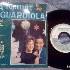 Discos de vinilo: LITA TORELLO I JOSEP GUARDIOLA CANTEN EL NADAL - SANTA NIT +3 EP VERGARA 1963. Lote 131465058