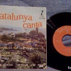 Discos de vinilo: CATALUNYA CANTA, LA SARDANA DE LES MONGES - POLIFÓNICA DE GERONA, DIRECTOR: JOSÉ VIADER - EP VINILO. Lote 131465122