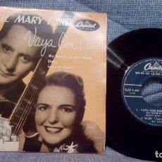 Discos de vinilo: LES PAUL & MARY FORD - VAYA CON DIOS + 3 - EP DEL SELLO CAPITOL EDITADO EN ESPAÑA EN LOS AÑOS 50. Lote 131465602
