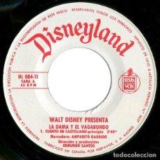 Discos de vinilo: WALT DISNEY - LA DAMA Y EL VAGABUNDO (EP DISNEYLAND - BRUGUERA 1969 (SOLO DISCO). Lote 131480690