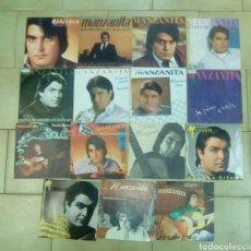 Discos de vinilo: MANZANITA LOTE DE 15 SINGLES. Lote 131482789