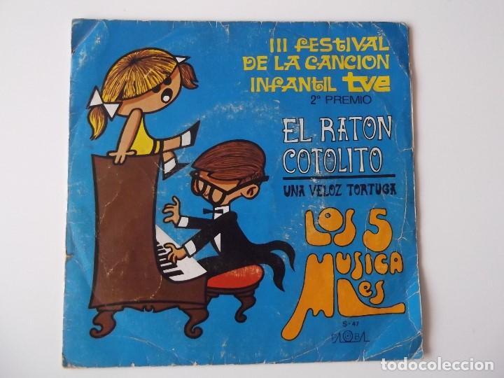 LOS 5 MUSICALES - EL RATON COTOLITO (Música - Discos - Singles Vinilo - Música Infantil)