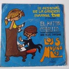 Discos de vinilo: LOS 5 MUSICALES - EL RATON COTOLITO. Lote 131486026