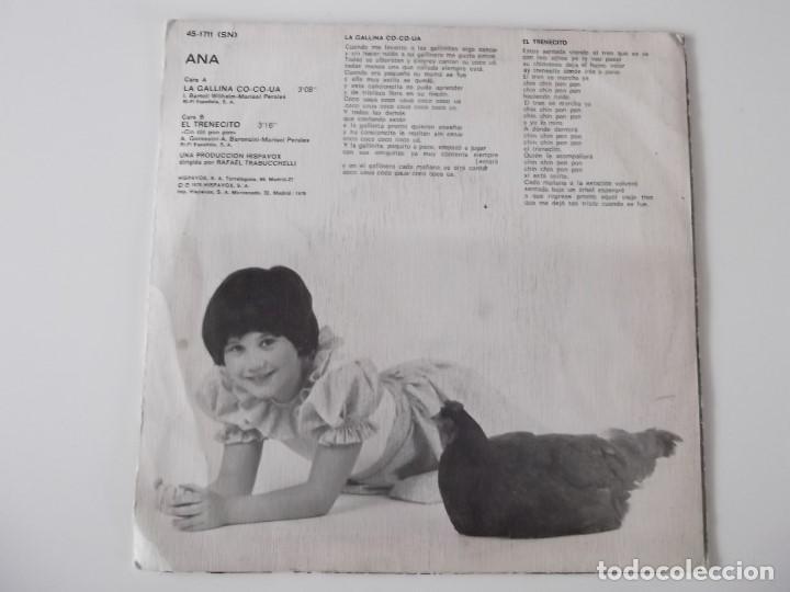 Discos de vinilo: ANA - La gallina co-co-ua - Foto 2 - 131488578