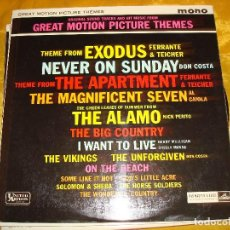 Discos de vinilo: GREAT MOTION PICTURE THEMES. EXODUS, THE ALAMO.... UNITED ARTIST, 1961. EDIC. INGLESA. . Lote 131526374