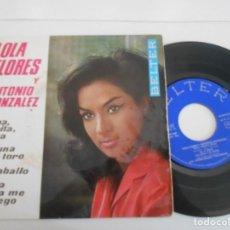 Disques de vinyle: LOLA FLORES-EP PENA PENITA PENA +3. Lote 131527574