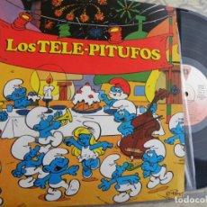 Discos de vinilo: LOS TELE PITUFOS -LP 1989 -BUEN ESTADO. Lote 131544610