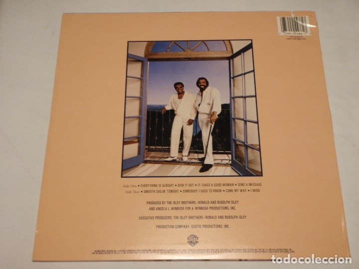 Discos de vinilo: THE ISLEY BROTHERS ' SMOOTH SAILIN' ' NEW YORK - USA 1987 LP33 WARNER BROS RECORDS - Foto 2 - 30823351