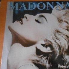 Discos de vinilo: MADONNA - TRUE BLUE - LP, PAPA DON´T PREACH + 8, AÑO 1986 MADE IN UK. Lote 131555246