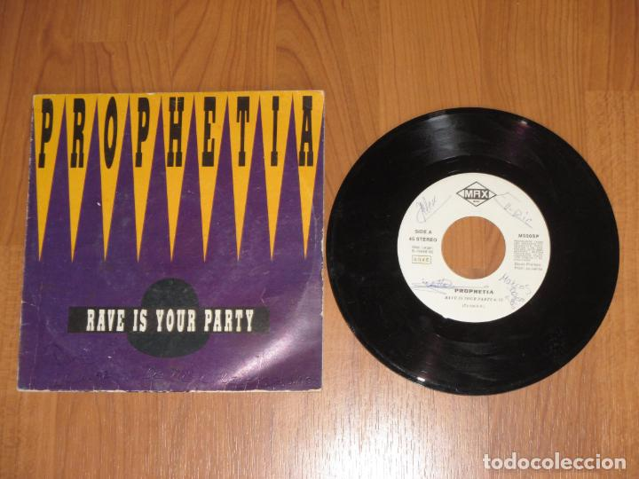 PROPHETIA - RAVE IS YOUR PARTY - SINGLE - SPAIN - PROMO - MAX MUSIC - T - (Música - Discos - Singles Vinilo - Techno, Trance y House)
