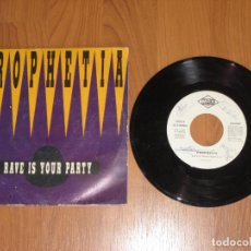 Discos de vinilo: PROPHETIA - RAVE IS YOUR PARTY - SINGLE - SPAIN - PROMO - MAX MUSIC - T - . Lote 131563510