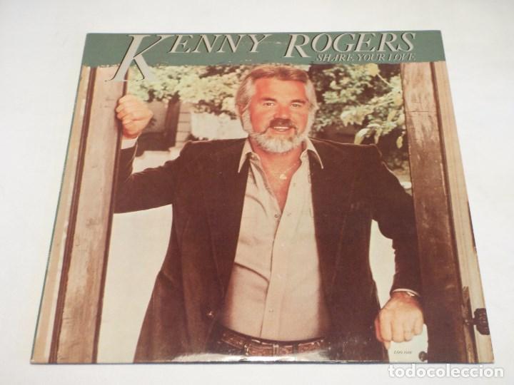 KENNY ROGERS ( SHARE YOUR LOVE ) USA - 1981 LP33 LIBERTY RECORDS (Música - Discos - LP Vinilo - Pop - Rock - New Wave Extranjero de los 80)