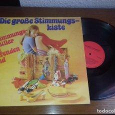 Discos de vinilo: LP - VARIOS - DIE GROBE STIMMUNGSKISTE (STIMMUNGSKNÜLLER AM LAUFENDEN BAND)- EDITION GERMANY. Lote 131571458