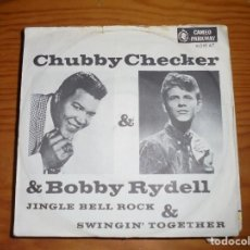 Discos de vinilo: CHUBBY CHECKER & BOBBY RYDELL. JINGLE BELL ROCK . CAMEO-PARKWAY, 1980. EDIC. ALEMANA. IMPECABLE. Lote 131584982
