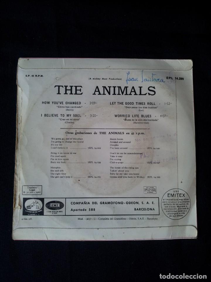 Discos de vinilo: THE ANIMALS - HOW YOUVE CHANGED, I BELIEVE TO MY SOUL, LET THE GOOD TIMES ROLL, WORRIED LIFE BLUES - Foto 2 - 131589550
