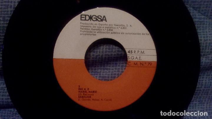 Discos de vinilo: ELS 4 Z - EL TEU RECORD + 3 - SELLO EDIGSA C.M. 79 DEL AÑO 1965 (CANTADO EN CATALAN) COMO NUEVO - Foto 4 - 131589562