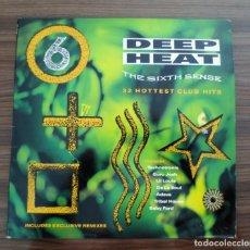 Discos de vinilo: DOBLE LP -DEEP HEAT - THE SIXTH SENSE- 1990. Lote 131612902