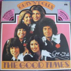 Discos de vinilo: LP - GUYS N DOLLS - FOR THE GOOD TIMES (SPAIN, ARILA 1976, PORTADA DOBLE). Lote 131614622