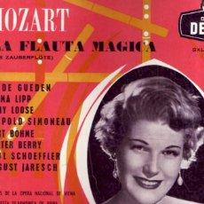 Discos de vinilo: LA FLAUTA MÁGICA, MOZART DECCA. MOZART, HILDE GUEDEN, VIENNA PHILHARMONIC ORCHESTRA, KAR BÖHM. 3 LP. Lote 131614834