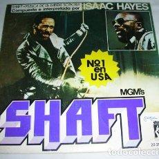 Discos de vinilo: ISAAC HAYES – TEMA DE SHAFT - SINGLE 1971. Lote 131618766