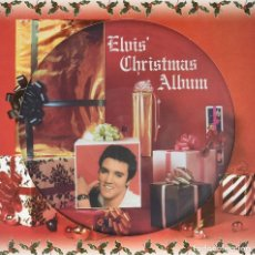 Discos de vinilo: ELVIS PRESLEY * LP 180G PICTURE DISC * ELVIS' CHRISTMAS ALBUM * MONO!!! * NUEVO. Lote 206409837