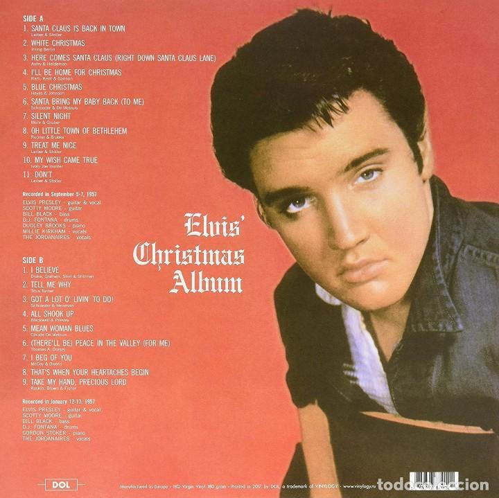 Discos de vinilo: ELVIS PRESLEY * LP 180g PICTURE DISC * Elvis Christmas Album * MONO!!! * Nuevo - Foto 2 - 206409837