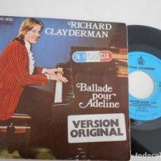 Discos de vinilo: RICHARD CLAYDERMAN-SINGLE BALLADE POUR ADELINE. Lote 131638414