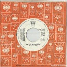Discos de vinilo: VIOLETA PARRA SINGLE PROMOCIONAL UN RIO DE SANGRE - ARAUCO TIENE UNA PENA ESPAÑA 1975. Lote 131660682
