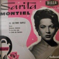 Discos de vinilo: SARITA MONTIEL - EL ULTIMO CUPLE. Lote 131664834