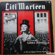 Discos de vinilo: LILI MARLEEN - BSO PELICULA HANNA SCHYGULLA. RAINER WERNER FASSBINDER (SG) 1981. Lote 131667630