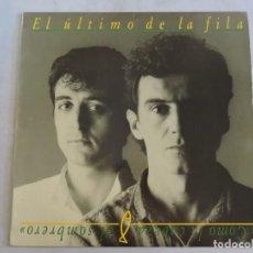 Discos de vinilo: EL ULTIMO DE LA FILA COMO LA CABEZA AL SOMBRERO LP 1988 INSERTO. Lote 131686082