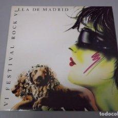 Discos de vinilo: VI FESTIVAL ROCK VILLA DE MADRID - INKILINOS DEL 5º, LA BAJADA,CRANEO LP RARO. Lote 131687914