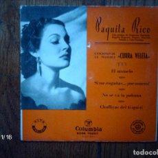 Discos de vinilo: PAQUITA RICO - CURRA VELETA - EL ANZUELO + SI ME ENGAÑAS ...¡ME MUERO! + NO SE VA LA PALOMA + 1 . Lote 131701506