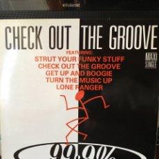 Discos de vinilo: 99.9% CHECK OUT THE GROOVE-MAXI 1988-VINILO SIN USO. Lote 131703941
