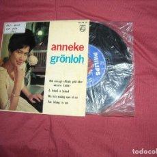 Discos de vinilo: ANNEKE GRONLOH -EP OLD ENOUGH NICHTS GEHT UBER UNSERE LIEBE + 3 (1963 SPAIN). Lote 131740422