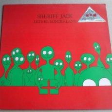 Discos de vinilo: SHERIFF JACK - LET`S BE NONCHALANT - EP - ENGLAND - 1986. Lote 131745806