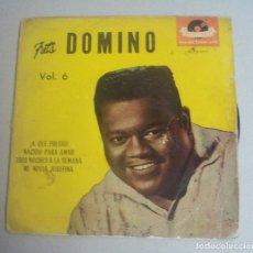 Discos de vinilo: FATS DOMINO VOL. 6 AÑO 1960 A QUE PRECIO -POLYDOR 27 2727 EPH ORIGINAL. Lote 131748202