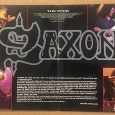 Discos de vinilo: SAXON – GREATEST HITS LIVE! -DOUBLE 2 × VINYL, LP, ALBUM - 1990 UK - ( JUDAS PRIEST, METALLICA ). Lote 131748614