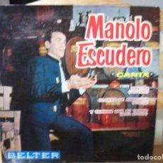 Discos de vinilo: EP DE MANOLO ESCUDERO , MENTIRA + 2 (AÑO 1961), VER DESCRIPCIÓN. Lote 131760706