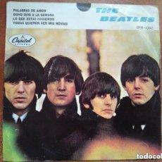Discos de vinilo: BEATLES - PALABRAS DE AMOR + 3 (EP) EDICION MEXICANA.. Lote 131762786