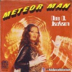Discos de vinilo: DEE D. JACKSON - METEOR MAN + GALAXY POLICE - SINGLE SPAIN 1978. Lote 131765082