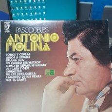 Discos de vinilo: ANTONIO MOLINA. PASODOBLES. DISCOPHON 1977, LP. Lote 131767937